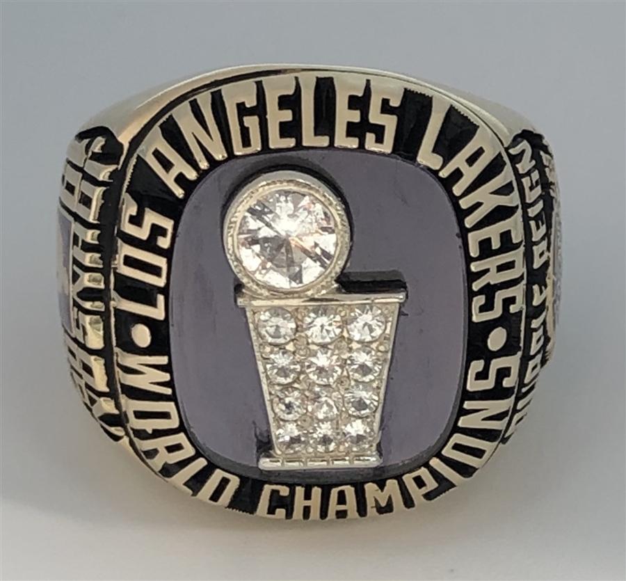 1985 Los Angeles La Lakers Nba World Champions 10k Gold Ring
