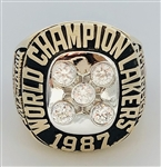 "1987 Los Angeles Lakers NBA ""World Champions"" 10K Gold Ring!"