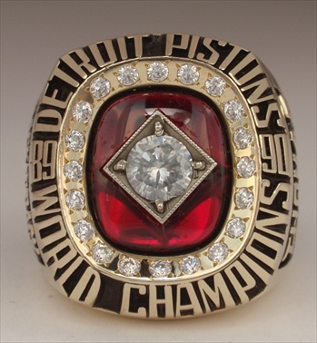 "1990 Detroit Pistons NBA ""World Champions"" 10K Gold Ring"