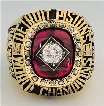 "1990 Detroit Pistons NBA ""World Champions"" Gold-Plated Ring!"