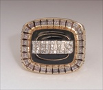"1992 Chicago Bulls ""Back-to-Back"" NBA World Champions 10K Gold Ring!"