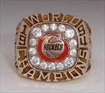 "1994 Houston Rockets NBA ""World Champions"" 10K Gold Ring"