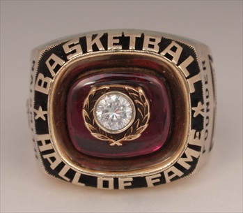 "Basketball ""Hall Of Fame"" 10K Gold Ring"