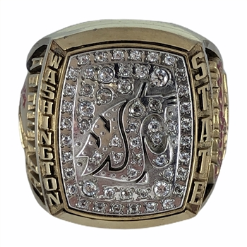 "2001 Washington State Cougars ""Sun Bowl Champions"" NCAA Football Ring!"
