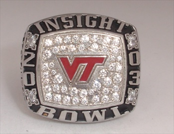 "2003 Virginia Tech Hokies ""Insight Bowl"" Champions Ring"