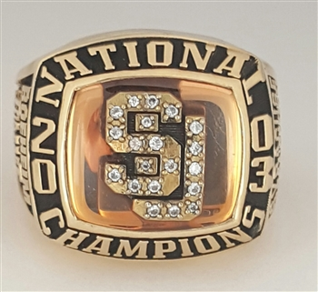 "2003 Syracuse Orangemen NCAA ""National Champions"" 10K Gold Basketball Ring!"