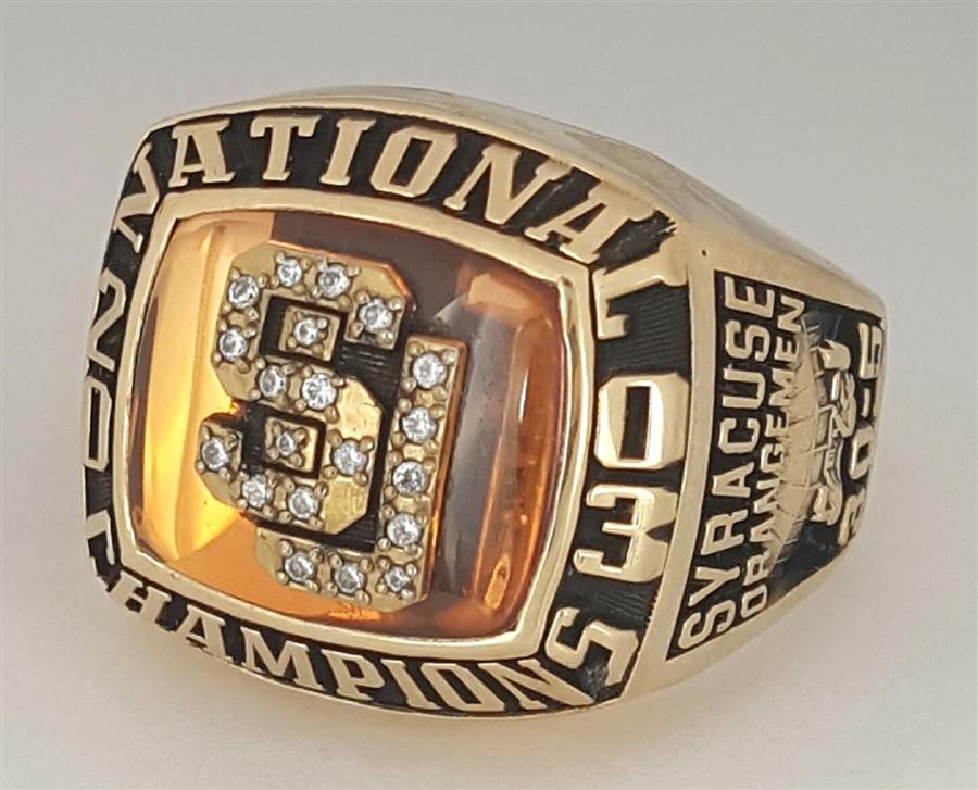 2003 Syracuse Orangemen Ncaa National Champions 10k Gold