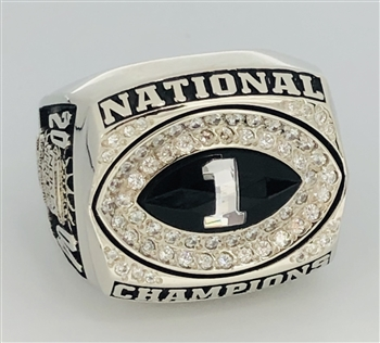 "2004 LSU Tigers NCAA Football ""National Champions"" 10K White Gold Ring!"