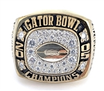 "2005 Florida State Seminoles ""Gator Bowl"" Champions Gold-Plate Ring!"