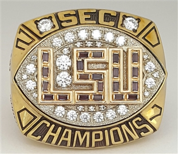 "2007 LSU Tigers ""SEC Champions"" Player's Football Ring!"