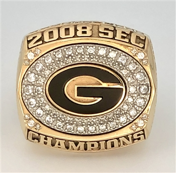 "2008 Georgia Bulldogs Basketball ""SEC Tournament"" Champions Ring!"