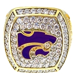 "2013 Kansas St. Wildcats ""Buffalo Wild Wings Bowl"" Champions NCAA Football Ring!"