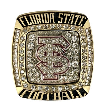 "2015 Florida State Seminoles ""Rose Bowl"" Championship NCAA Football Ring!"