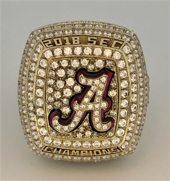 "2018 Alabama Crimson Tide ""SEC"" Champions NCAA Football Ring!"