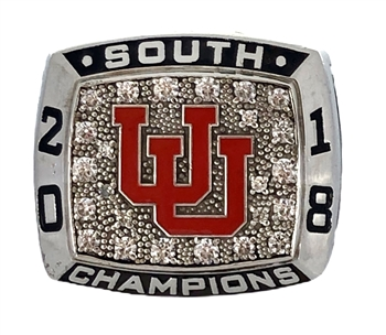 "2018 Utah Utes ""Pac-12"" NCAA Football Championship Ring."