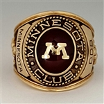 Minnesota Golden Gophers Football Lettermen's Championship 10K Ring!
