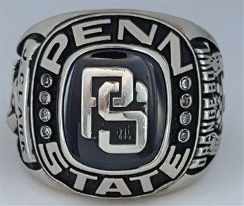 "1973 Penn State Nittany Lions ""Orange Bowl"" Champions / Perfect 12-0-0 Season 10K White Gold Ring!"