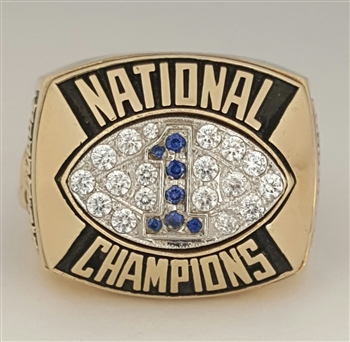 "1986 Penn St. Nittany Lions ""National Champions"" 10K Yellow Gold Football Ring!"