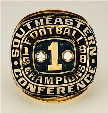 "1988 Auburn Tigers ""SEC"" Football Champions 10K Gold Ring!"
