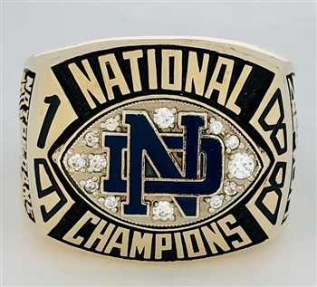 "1988 Notre Dame Fighting Irish 10K Gold ""National CHampionship"" Ring!"