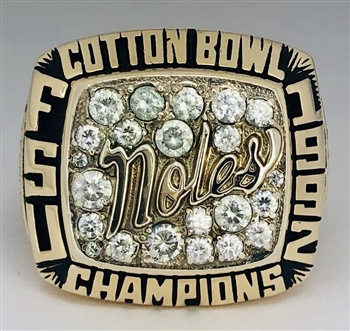 "1992 FSU Florida St. Seminoles NCAA Football ""Cotton Bowl"" Champions 10K Gold Ring!"