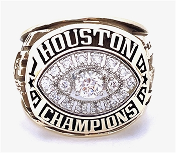 "Antowain Smith's 1996 Houston Cougars ""USA Conference"" Champions 10K Gold Ring!"