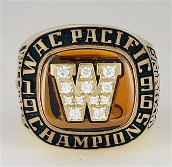 "1996 Wyoming St. Cowboys ""WAC"" Champions Players Ring."