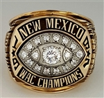 "1997 New Mexico Lobos ""WAC"" Champions 10K Gold Ring"