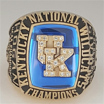 1998 Kentucky Wildcats Basketball National Champions 10K Gold Ring