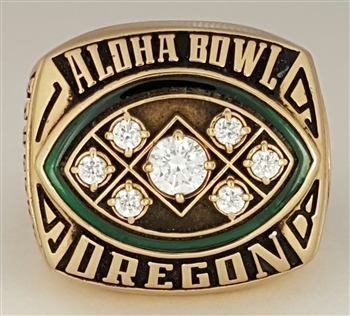 1998 Oregon Ducks Aloha Bowl Championship 10K Gold Ring.