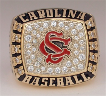 2003 South Carolina Gamecocks College World Series Championship 10K Gold Ring