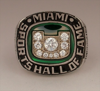 "Kevin Sheary's 2005 Miami Hurricanes ""Hall Of Fame"" Baseball Championship Ring"