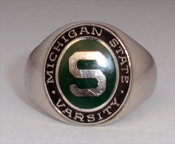 "1954 Michigan State Spartans Varsity Baseball ""Big-10"" Baseball Champions 10K Ring"