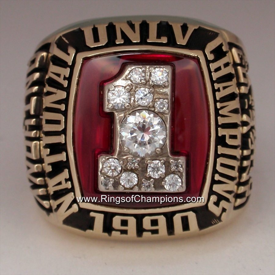 Greg Anthonys 1990 UNLV Running Rebels Basketball National Champions 10K Gold Ring