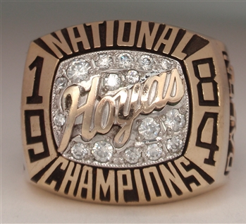 1984 Georgetown Hoyas National Champions 10K Gold Ring