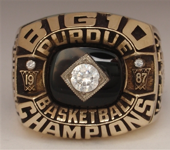 "1987 Purdue Boilermakers Basketball ""Big-10"" Champions 10K Gold Ring"