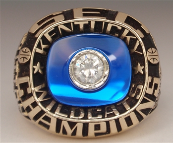 "1988 Kentucky Wildcats Basketball ""SEC"" Champions 10K Gold Ring"