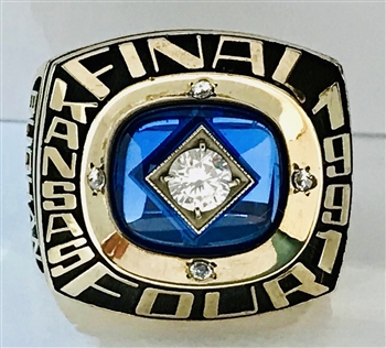 1991 Kansas Jayhawks Final-Four / Big-8 Championship Basketball Ring!