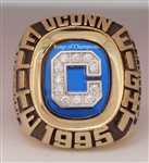 "1995 Uconn ""Elite-Eight"" Conference Champions 14K Gold-Plated Balfour Ring"