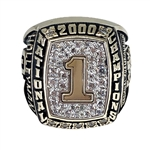 2000 Oklahoma Sooners Football National Champions 10K Gold Ring!