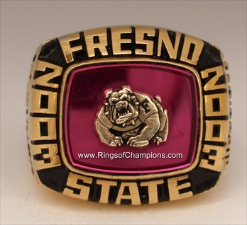 "2003 Fresno St. Bull Dogs ""Silicon Valley Bowl"" Champions Football Ring!"