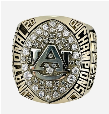 "2004 Auburn Tigers ""National Champions"" 10K Gold Ring that belonged to Evander Holyfield Jr."