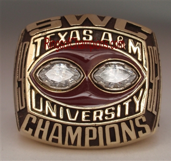 "1992 Texas A&M ""S.W.C."" Champions 10K Gold Football Ring"