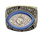 "1995 Kansas Jayhawks ""Aloha Bowl"" Champions NCAA Football Ring!"