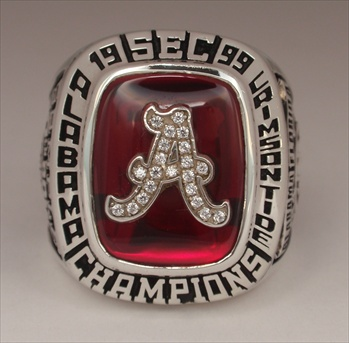 "1999 Alabama Crimson Tide ""S.E.C."" Champions Football Ring"
