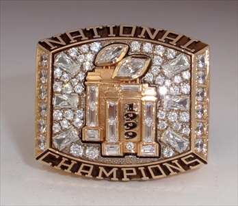 "1999 Florida State Seminoles ""National Champions"" 14K Gold Ring."
