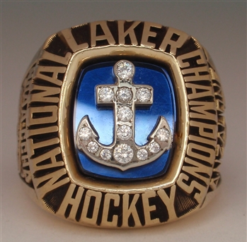 1988 Lake Superior NCAA Division 1 College Hockey National Champions 10K Gold Ring