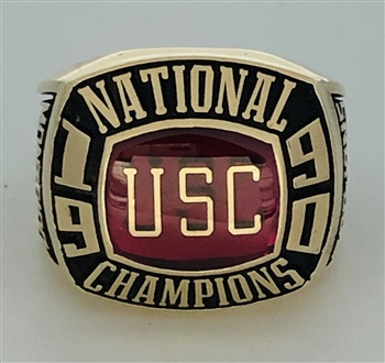 "1990 USC Trojans NCAA Volleyball ""National Champions"" 10K Gold Ring!"