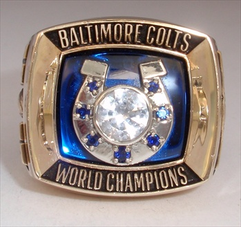 1970 Baltimore Colts Super Bowl V Champions 10K Gold Ring!