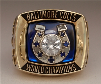 1970 Baltimore Colts Super Bowl V Champions 10K Gold Ring